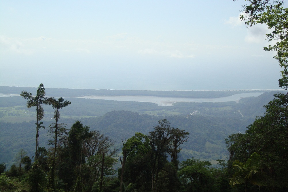 For sale, 140 acre farm with 360 degree view of the mountains and the sea, in Osa