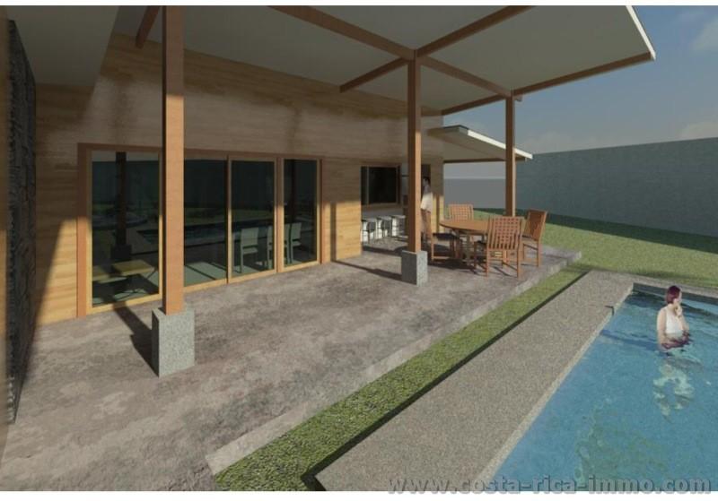 Vendo hermosa casa prefabricada con piscina en orotina for Vendo casa prefabricada