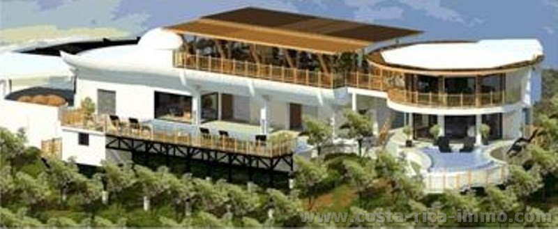 For sale brand New Hihg end Mansion, with spacious Garden, 360 + panoramic Views,  2 Swimming Pools, 3 decks, spaciuous Balconies, Heliport en Guanaca