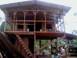 Fire sale, A dream for dropouts, self-catering and peace seekers, 31 ha farm with new wooden house on the Caribbean