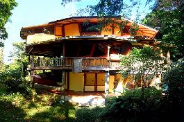 Zu verkaufen, Achteckige Jungle Paradise Haus mit Meerblick in Yoga Retreat in Hone Creek, Limon