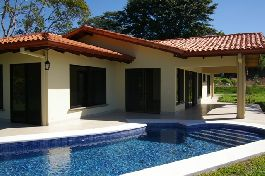 New house for sale with fabulous views of pool and tropical garden at Atenas