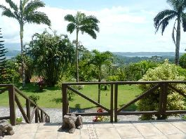 Panoramic view, US style house with horse stable, cowshed, dog kennels, etc. and 54,800 land at Arenal