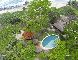 For sale, beachfront luxury Hotel with vour deluxe beachfront ecologically built villas in Santa Teresa