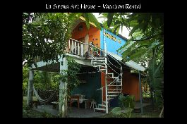 For sale, artistic holiday house on the dream beach Cabuya