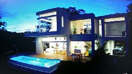Modern top house with dreamlike view to the sea, surrounded by pure nature at Montezuma for sale