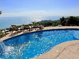 Villa wit elegance  with Year Round Sunsets into the Ocean Escaleras, Dominical for sale
