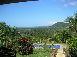 For sale, house near the sea with a large terrace, swimmimg pool and tropical garden