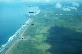 Investment opportunity, 28 ha farm with 44 plots and sea views, between Playa Bejuco and San Miguel