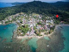 For sale 1,379 m2 building plot just 250 meters from the center of Puerto Viejo